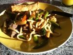 Stir fry & spring rolls